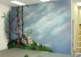 3d Unique Do It Yourself Wall Paint Art Lovely Fancy Personalized Forest  Flower Grass Blue Colourings Clouds