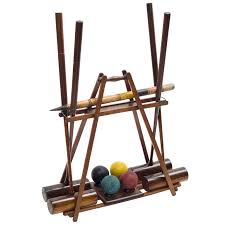 edwardian wooden croquet set on stand circa 1910 for