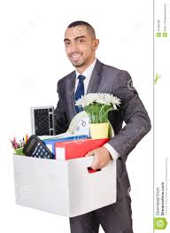 man being fired box royalty stock image image  man being fired box
