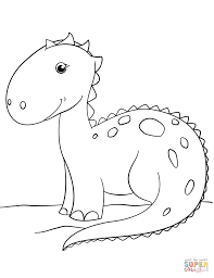 Small Picture Cute Cartoon Dinosaur coloring page Free Printable Coloring Pages