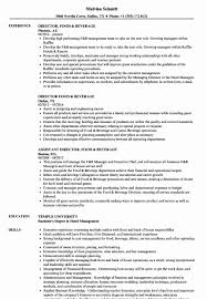 Expeditor Resume Food Expeditor Resume Beautiful Director Food Beverage Resume 4