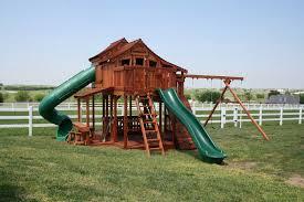 fort stockton tri level swing set