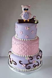 Pink Owl Baby Shower Cake  Rose BakesOwl Baby Shower Cakes For A Girl