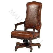 custom made office chairs. Interesting Office Custommade Leather Office Chair With Leaves Handtooled On Back And Seat And Custom Made Office Chairs N