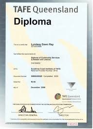 education lyndsay ray tafe qld diploma community services