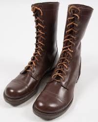 new us made paratrooper boots by corcoran one of the original manufacturers these differ from the originals by lacking the c mark on the heel and being