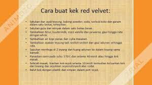 Resepi Kek Red Velvet Youtube