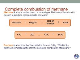 complete combustion of methane methane is a hydrocarbon found in natural gas