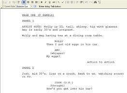 Comic Book Script Format Template