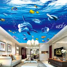 Ocean Wallpaper For Bedroom Online Buy Wholesale Cartoon Wallpaper 3d Ocean From China Cartoon