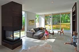 contemporary fireplace living space compact contemporary home in madison