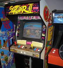 super street fighter ii arcade machine 1993 capcom break out