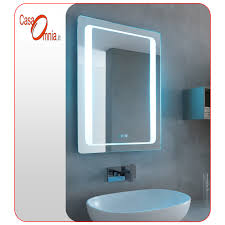 BATH LED MIRROR CLOCK BLUETOOTH V&C AQUILA CasaOmnia