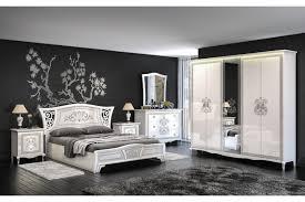 Italienisches Schlafzimmer Komplett Vintage 6 Teilig Weißhochglanz