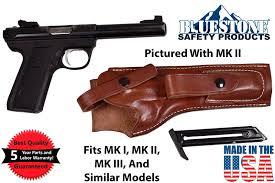 leather ruger mark 22 holster with mag pouch fits mk i ii iii iv