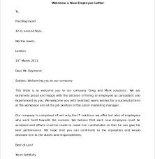 29 hr wel e letter templates free sample example format intended for wel e letter to new employee 585x600