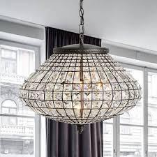 crystal beaded urn pendant lamp height