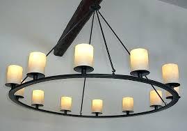 rustic candle chandelier ideas pillar diy ru