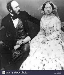 La regina Vittoria e il Principe Alberto nel 1854 Foto stock - Alamy