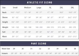 Custom Size Chart Sizing Chart State And Liberty Clothing Company Canada