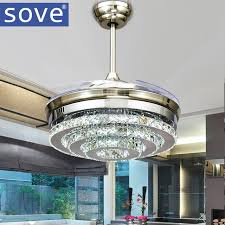 bedroom ceiling fans with remote control. Wonderful Control SOVE Modern LED Invisible Crystal Ceiling Fans With Lights Bedroom Folding  Light Fan Remote Control Throughout H