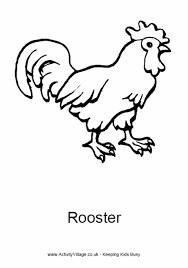 Small Picture Year of the Rooster Colouring Pages