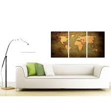 display gallery item 4 3 panel map canvas prints uk 125cm x 60cm 3189 display gallery item 5  on map wall art uk with vintage world map canvas art set of three for your study