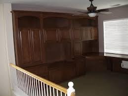 custom built home office. Custom Built In Home Office With Corner Desk And Bookshelves. I