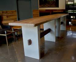 concrete and wood furniture. Concrete Reclaimed Wood Bar Table And Furniture