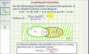 Probability Of A Given B Venn Diagram Ex 2 Determine A Conditional Probability Using A Venn Diagram P B Not A
