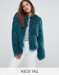 asos tall mongolian faux fur jacket u3l1 for women