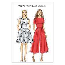Jumpsuit Pattern Awesome Amazon Vogue Patterns V48A48 Misses'Misses' Petite Dress And
