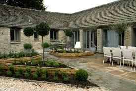 Lawn & Garden:Spanish Outdoor Design With Mini Garden Also White Dining  Table Set Spanish
