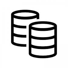 データベースのシルエット06 無料のaipng白黒シルエットイラスト
