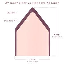 Inner A7 Euro Flap Solid Envelope Liners 25 Pack