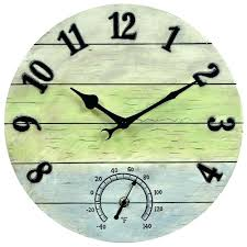 24 outdoor clocks medium image for weathered combo og wall inch outdoor clocks thermometers 24 inch