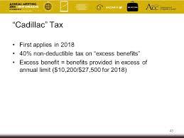 2018 cadillac tax limits. plain 2018 43 u201ccadillacu201d tax first applies in 2018 in cadillac tax limits