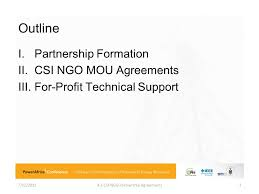 7/12/ Csi-Ngo Partnership Agreements. Tutorial: Ieee Csi Business ...