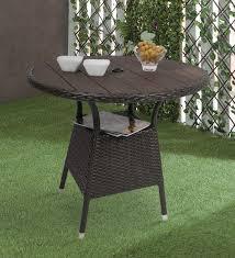 pluto outdoor table in dark brown