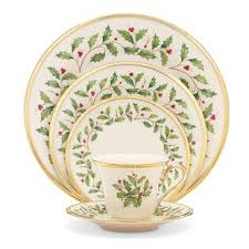 lenox holiday china. Delighful China Holiday Bone China 5 Piece Place Setting Service For 1 By Lenox Inside N