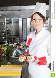 Chef Kitchen Female Chef In Kitchen Royalty Free Stock Photos Image 25735058