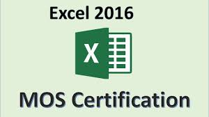 Excel 2016 Mos Exam Certification Microsoft Office Specialist