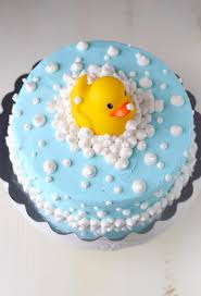 Rubber Ducky Baby Shower Cake Mom Loves Baking