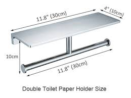 height to install toilet paper holder
