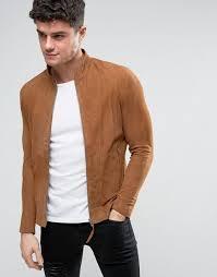 religion slim fit suede biker jacket men bootstrap religion religion leather jackets