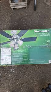 hunter stonington 46 brushed nickel ceiling fan with light for in oakland ca offerup