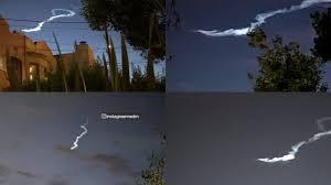 Blue Light In San Francisco Sky Mysterious Light Seen In Night Sky Over California