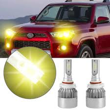 2018 Toyota 4runner Fog Light Bulb Size Details About 1pair 9005 Hb3 Led Yellow Headlight For Toyota 4runner 03 2018 Camry 2000 2017
