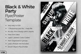 Black And White Flyer Template Black And White Party Flyer Template By Design Bundles 6