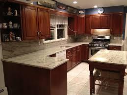 kitchen backsplash cherry cabinets black counter. River White Granite Countertop Kitchen Backsplash Cherry Cabinets Black Counter